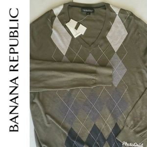Banana Republic Cashmere Silk Cotton Sweater XL